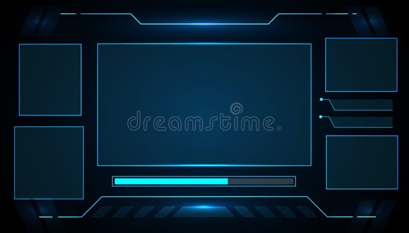 Conception futuriste de vecteur de technologie d'interface pour la future technologie d'affaires illustration libre de droits