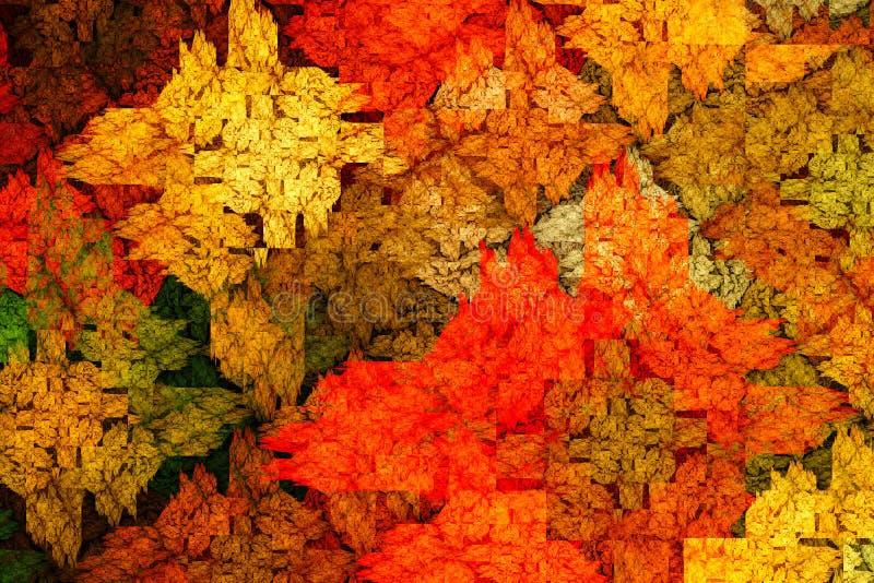 conception générée par ordinateur abstraite de la fractale 3d La fractale est modèle interminable illustration libre de droits