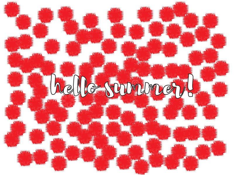 Conception géniale de confettis de fleurs illustration libre de droits
