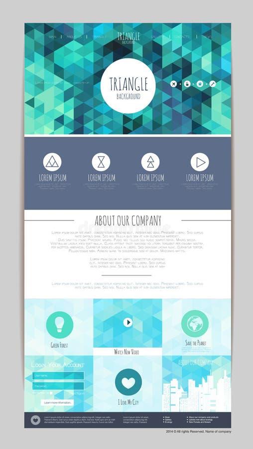 Conception géométrique abstraite de site Web de triangle I d'entreprise illustration stock