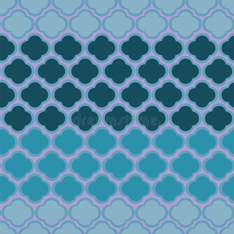 Conception géométrique abstraite mignonne de forme avec le modèle de rayure dans des couleurs bleues Répétition, sans couture, ve illustration libre de droits