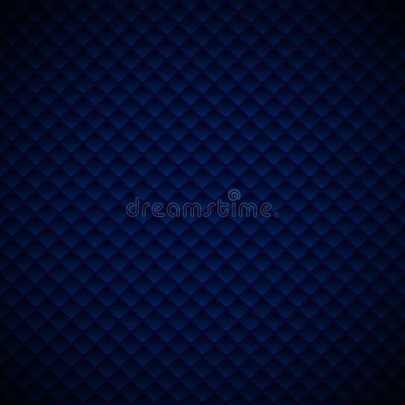 Conception géométrique bleue de luxe de modèle de places de résumé sur le fond foncé illustration de vecteur