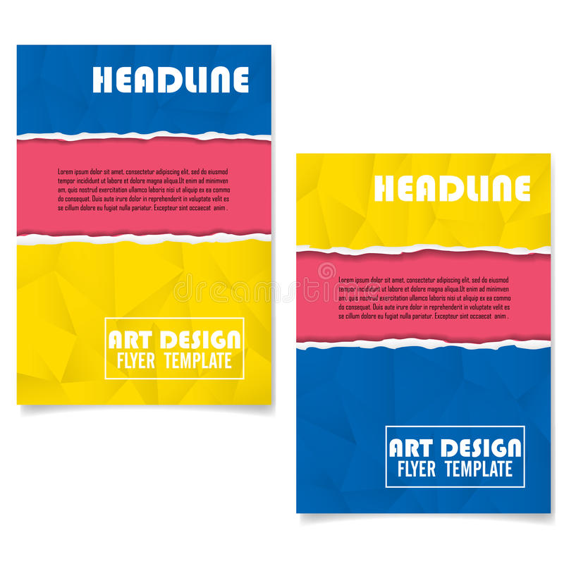 Conception géométrique colorée de disposition de couverture de livre illustration de vecteur