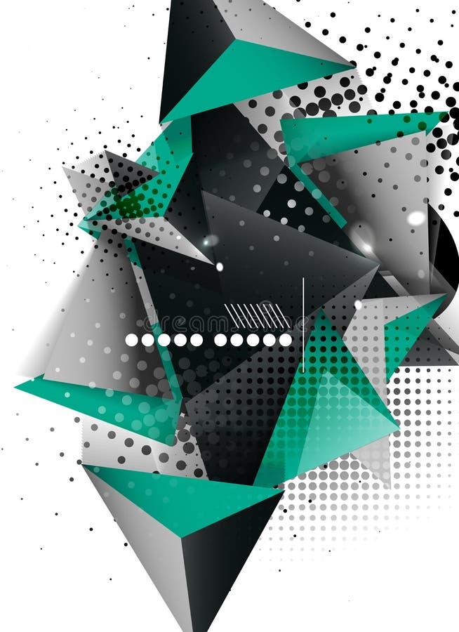 Conception géométrique de la triangle 3d, fond abstrait illustration stock