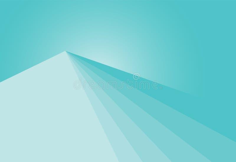 Conception géométrique de matière de base de gradient vert illustration de vecteur