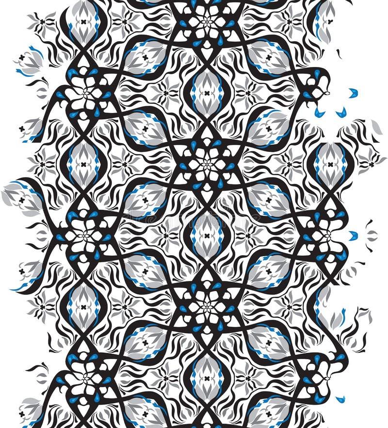 Conception géométrique de vibration d'illusion optique Modèle sans couture de couleurs noires et blanches du Pentagone illustration de vecteur