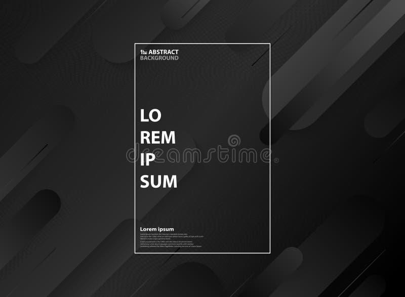 Conception géométrique minimale noire et blanche de modèle de résumé avec le fond tramé illustration libre de droits
