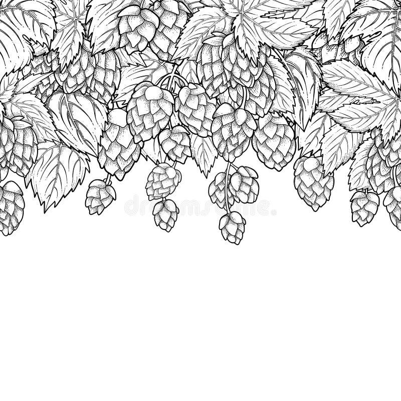 Conception graphique d'houblon illustration stock