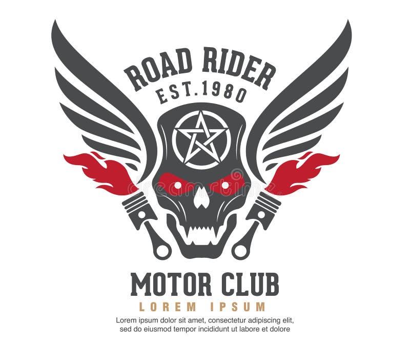 Conception graphique de logo de moteur logo, autocollant, label, bras illustration de vecteur