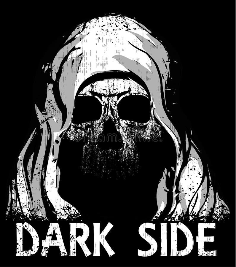 Conception graphique de T-shirt de crâne illustration libre de droits