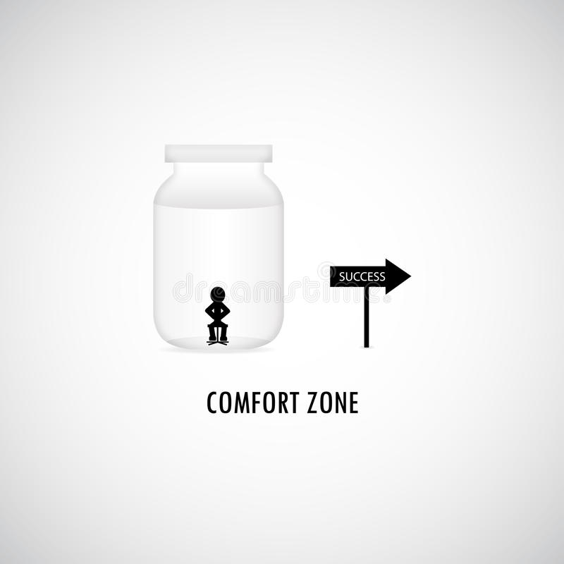 Conception graphique de zone de confort illustration stock