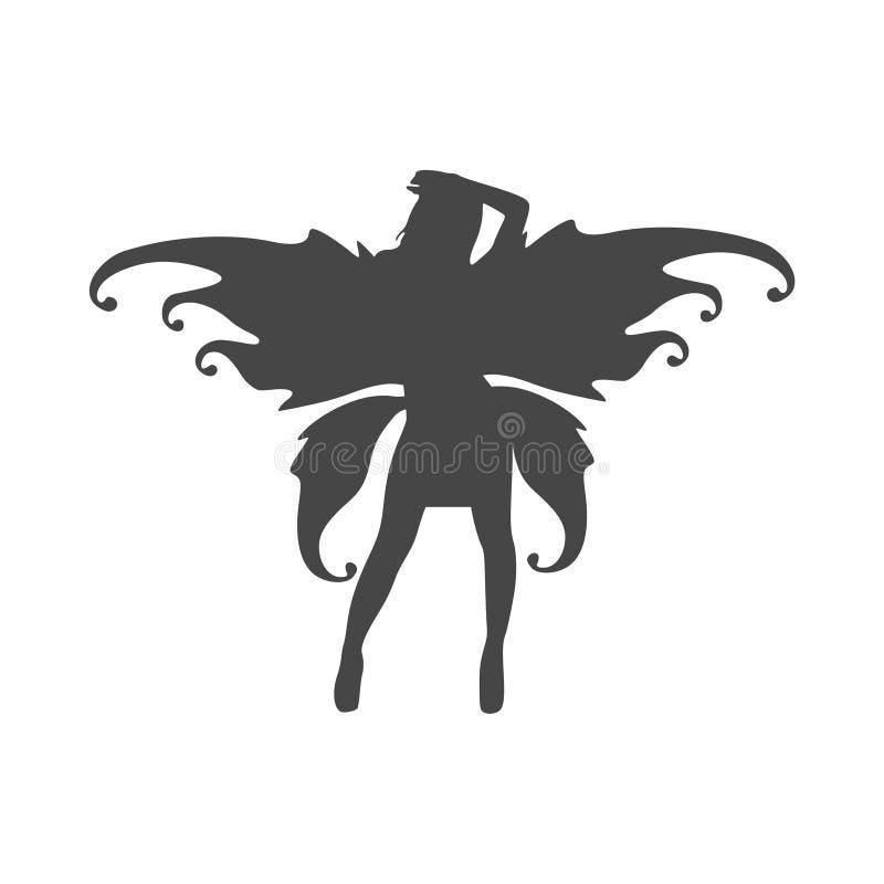 Conception graphique plate d'icône féerique - illustration illustration stock