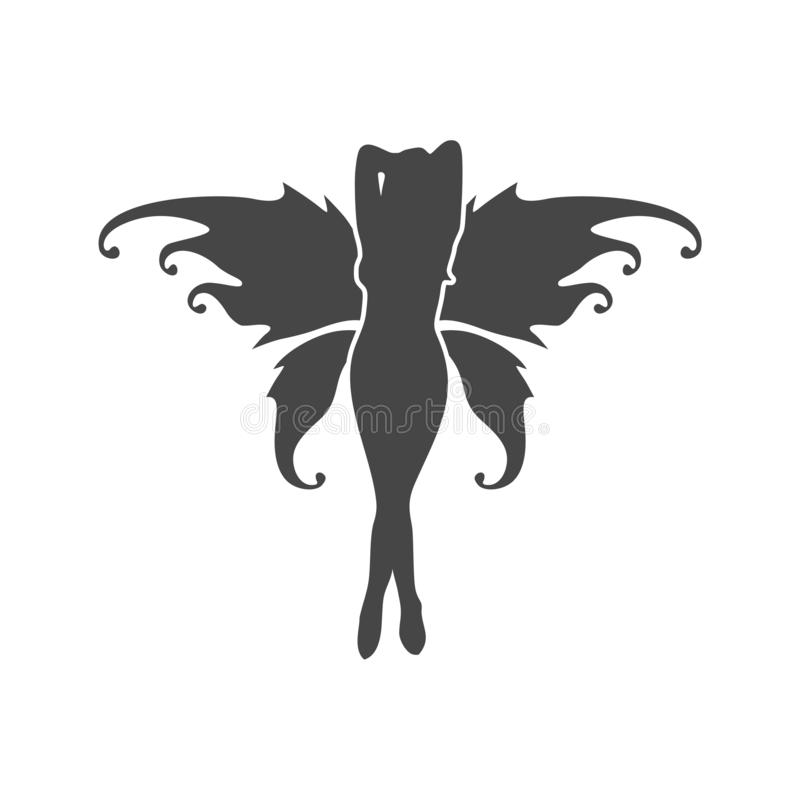 Conception graphique plate d'icône féerique - illustration illustration libre de droits