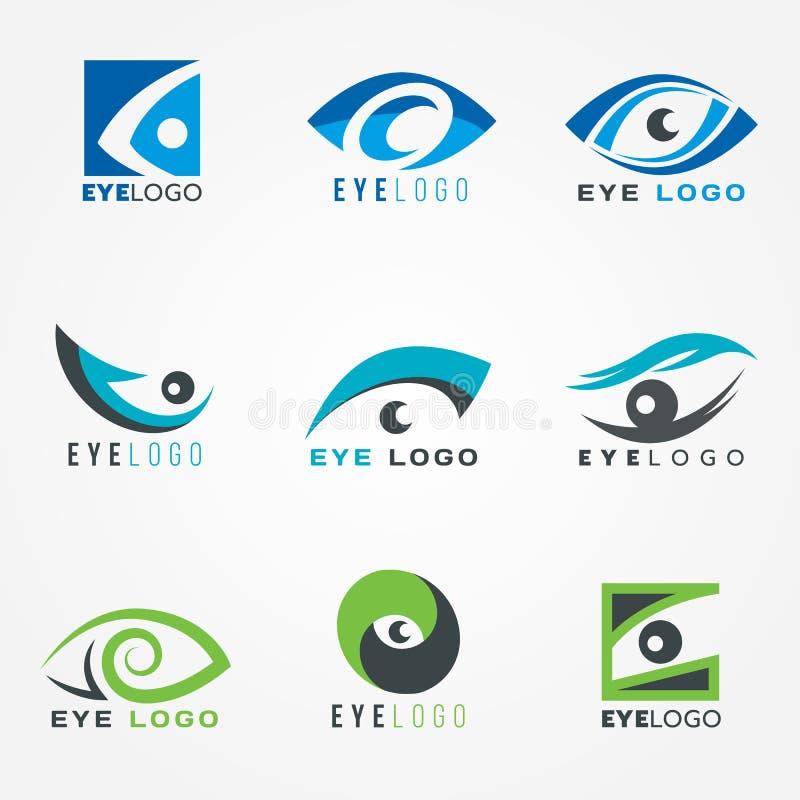 Conception graphique réglée de vecteur de signe de logo d'oeil illustration libre de droits