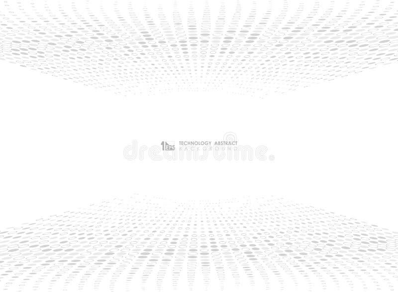 Conception grise abstraite de mod?le de cercle de point de technologie sur le fond blanc Vecteur eps10 d'illustration illustration stock