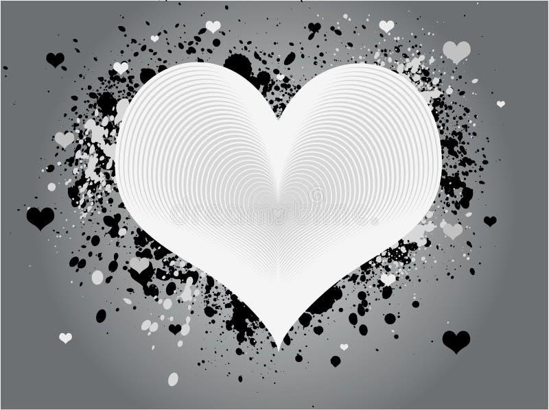 Conception grunge abstraite de coeur illustration de vecteur