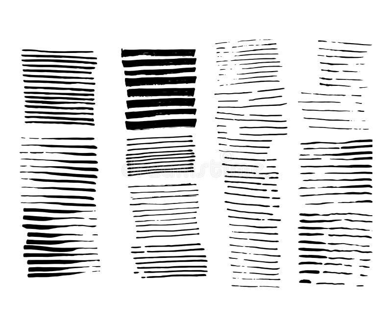 Conception grunge abstraite Texture rayée Positionnement d'illustration de vecteur Ligne de pinceau Peignez le contexte de rayure illustration stock