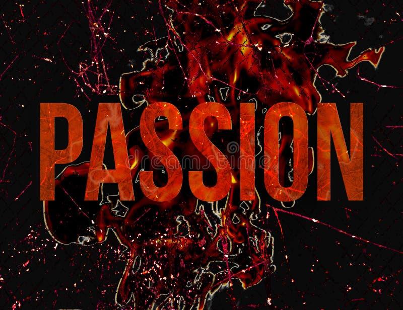 Conception grunge d'illustration de style de typographie de passion illustration libre de droits