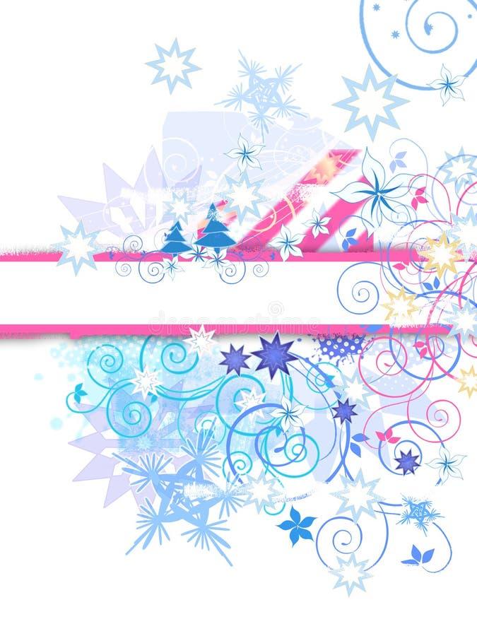 Conception grunge de l'hiver illustration stock