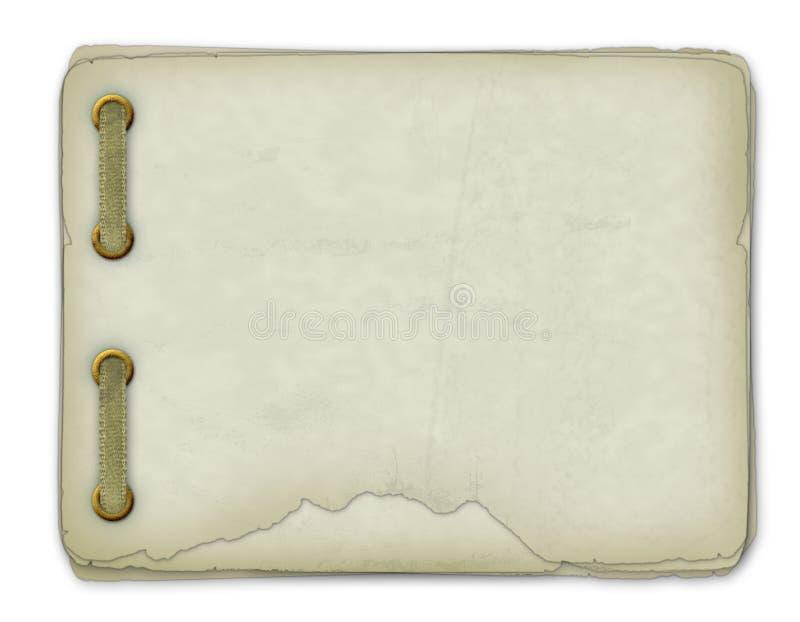 Conception grunge de papiers dans le type scrapbooking illustration libre de droits