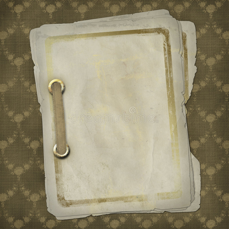 Conception grunge de papiers dans le type scrapbooking illustration stock
