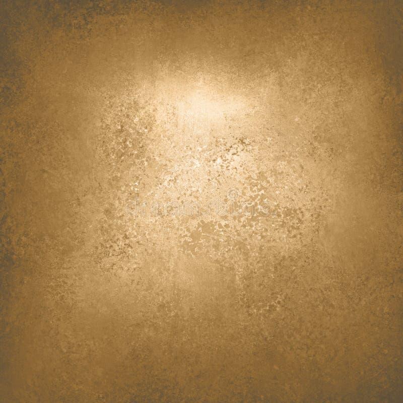 Conception grunge de texture de fond d'or de vintage riche de luxe abstrait de fond avec la peinture antique élégante sur l'illust photo libre de droits