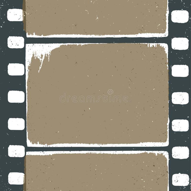 Conception grunge vide de bande de film illustration de vecteur