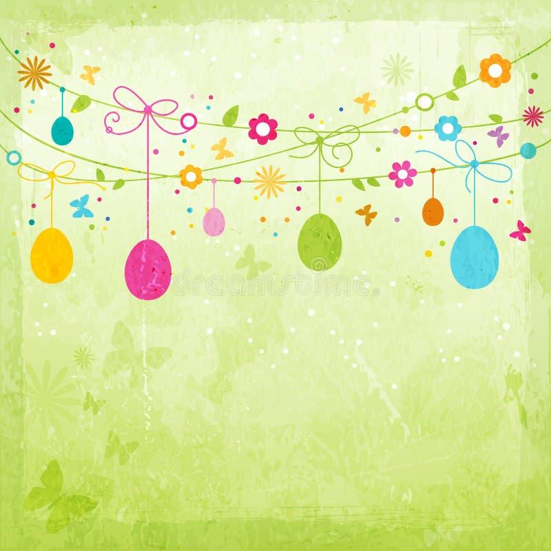 Conception heureuse colorée de Pâques illustration stock