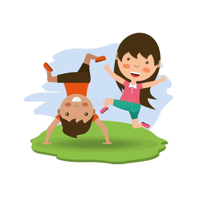 Conception heureuse d'enfants illustration stock