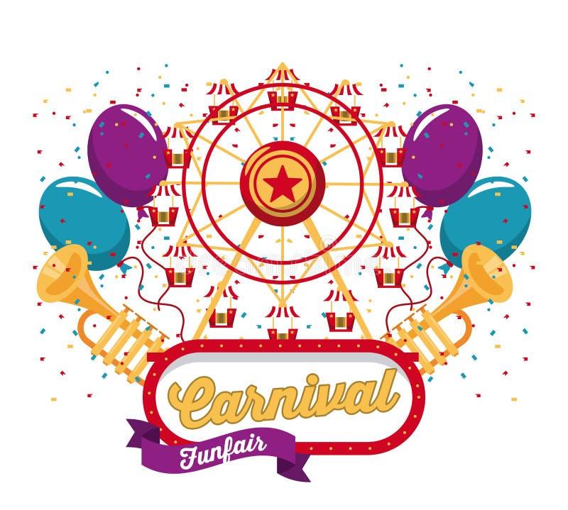 Conception heureuse de carnaval illustration de vecteur