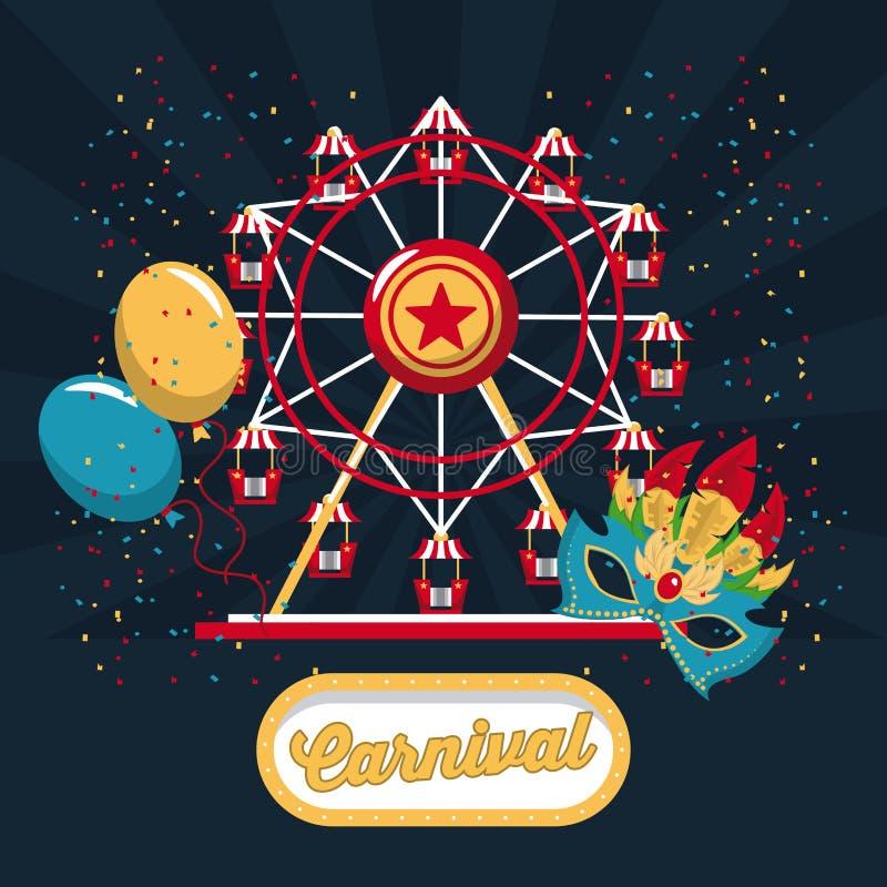 Conception heureuse de carnaval illustration stock