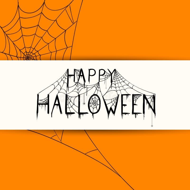 Download Conception Heureuse De Halloween Illustration Stock - Illustration du effrayant, spiderwebs: 76079494