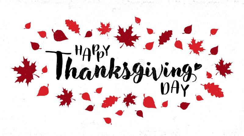 Conception heureuse de vecteur de typographie de jour de thanksgiving illustration libre de droits