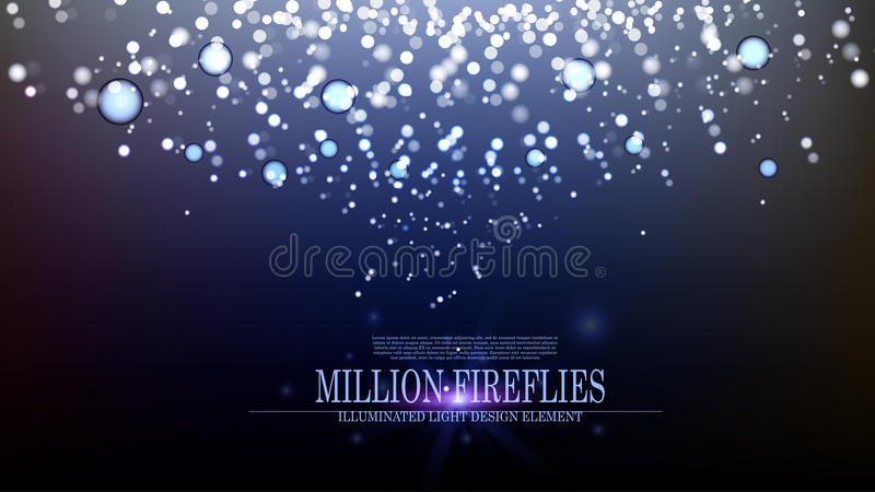 Conception III de fond de lucioles de l'abrégé sur million vecteur illustration stock
