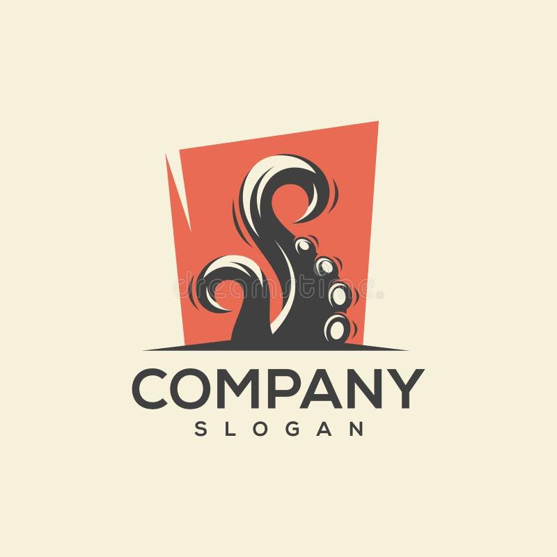 Conception impressionnante de logo de poulpe prête à employer illustration libre de droits