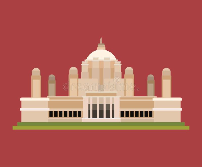Conception indienne de monument illustration de vecteur