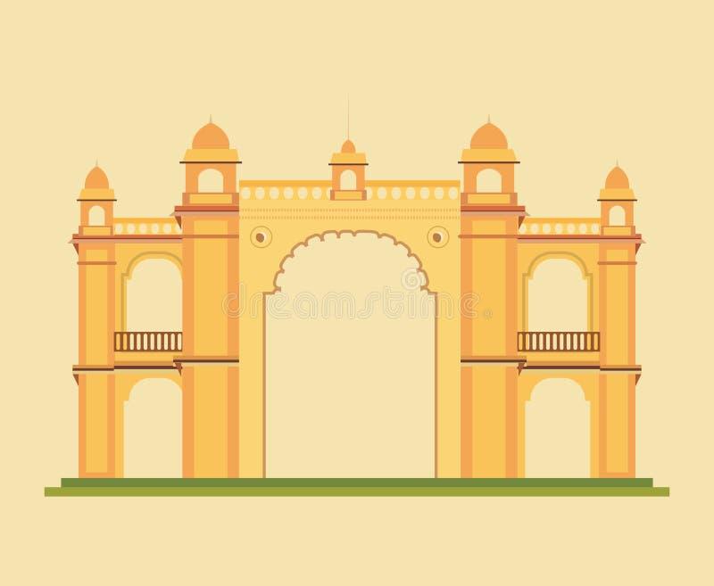 Conception indienne de monument illustration stock