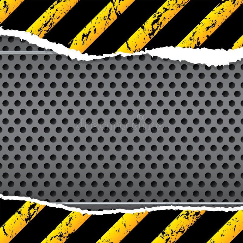 Conception industrielle de fond avec le papier déchiré illustration de vecteur