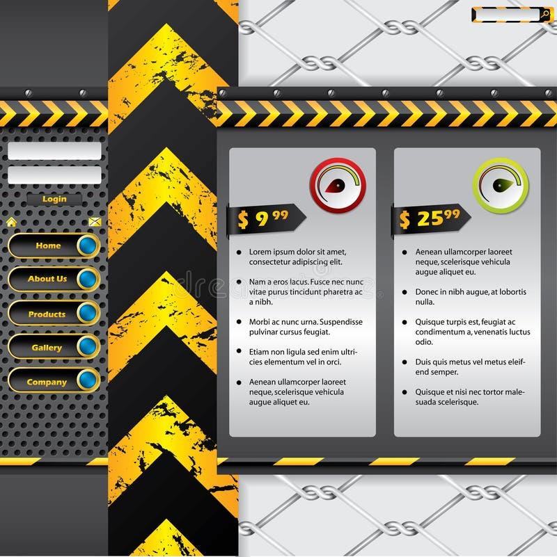 Conception industrielle de site Web illustration libre de droits