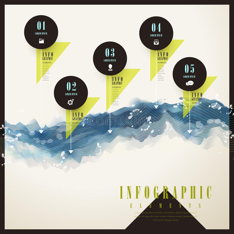 Conception infographic à la mode de calibre illustration stock