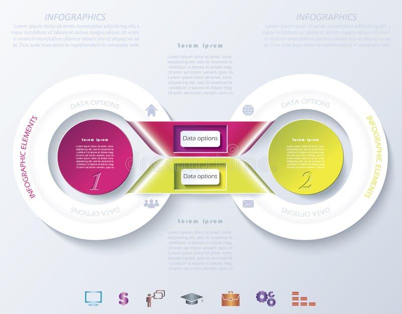 Conception infographic abstraite avec des cercles de couleur illustration de vecteur