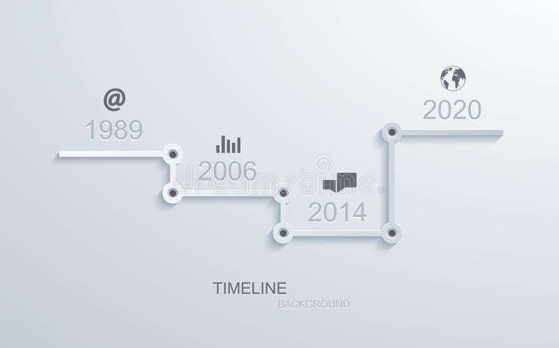 Conception infographic d'élément de chronologie de vecteur illustration de vecteur