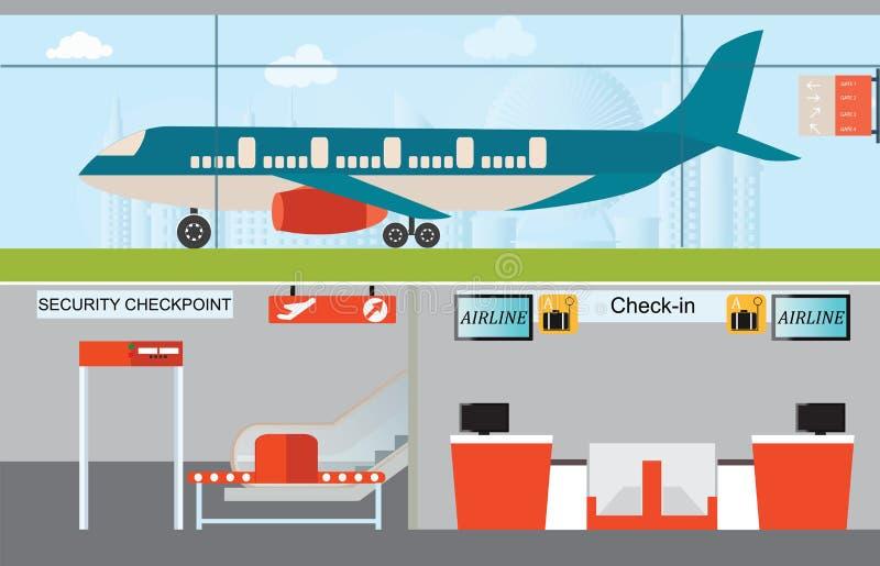 Conception infographic d'aéroport illustration stock