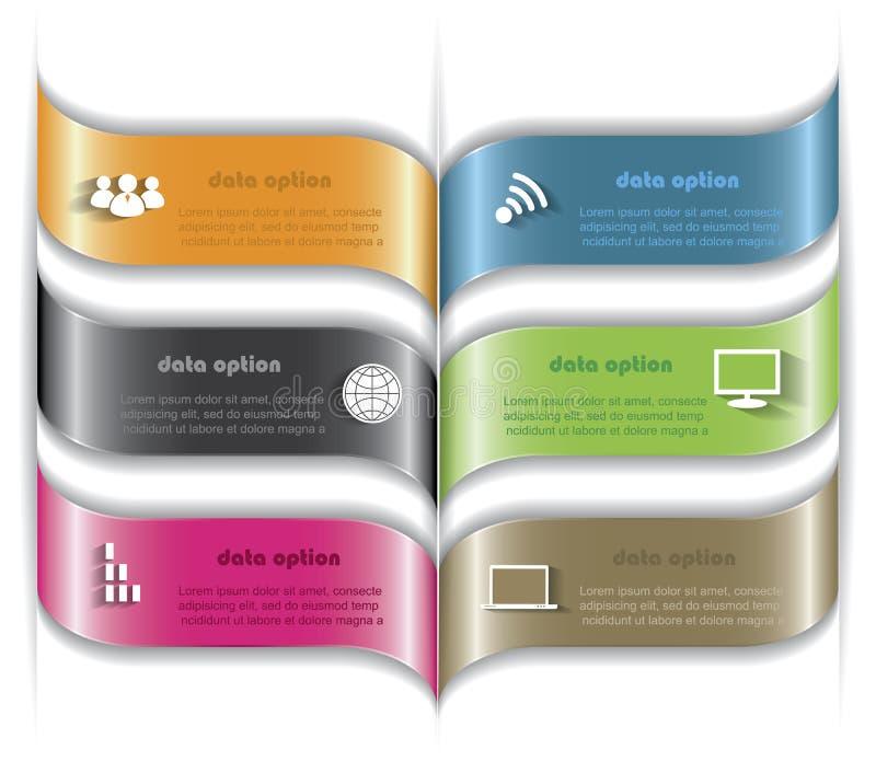 Conception infographic de calibre de vecteur moderne pour vos pres d'affaires illustration libre de droits