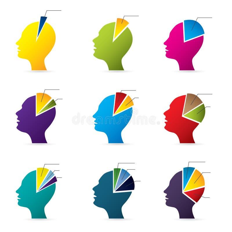 Conception infographic de tête humaine illustration stock