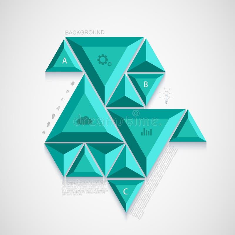 Conception infographic de triangle moderne de vecteur illustration libre de droits