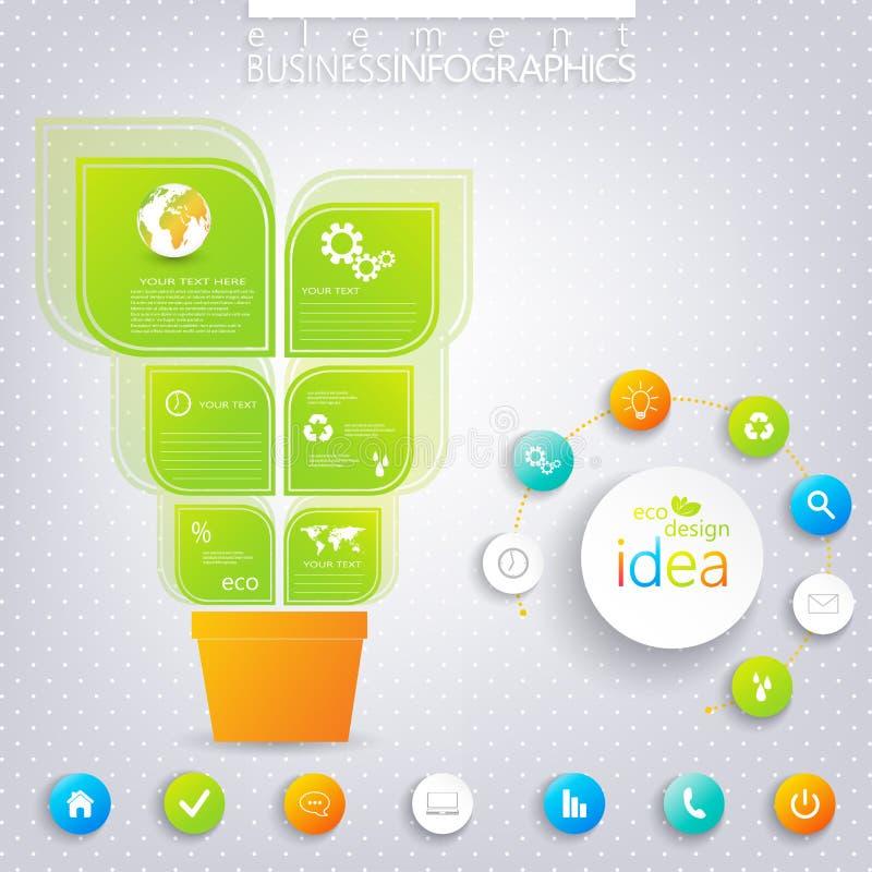 Conception infographic verte moderne avec l'endroit pour illustration de vecteur