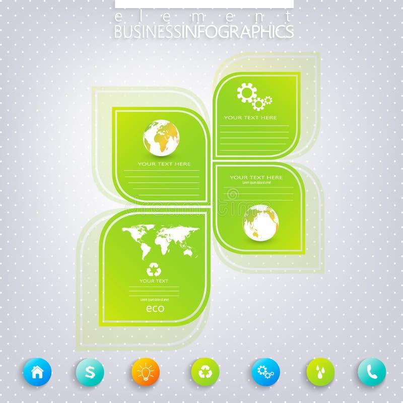 Conception infographic verte moderne avec l'endroit pour illustration stock