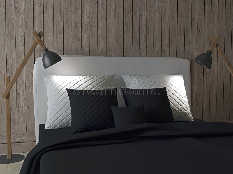 Conception intérieure de chambre à coucher illustration stock