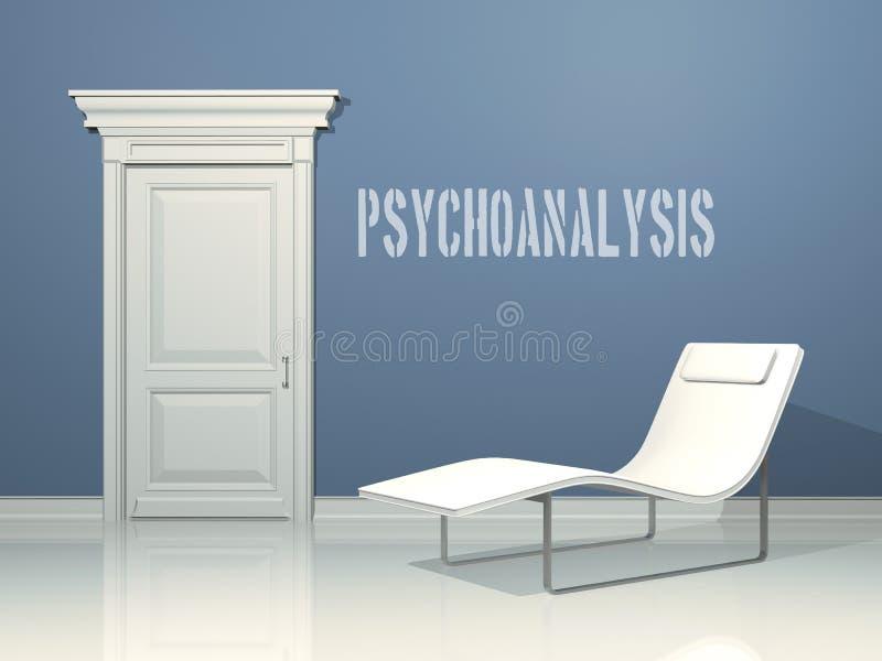 Conception intérieure de psycho-analyse illustration stock